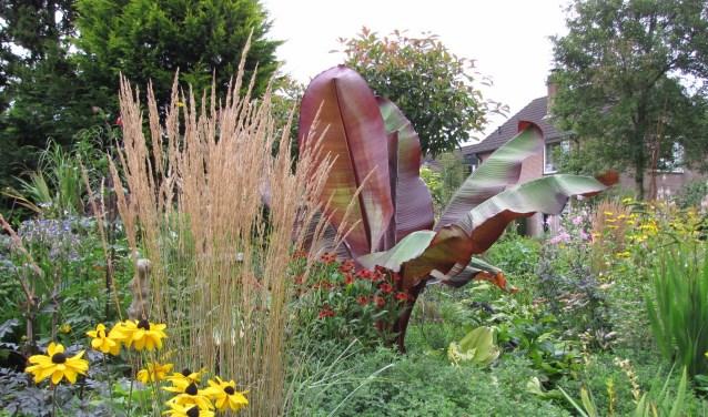 De tuin van de winnaar bij de siertuinen in 2016, de tuin van de familie Hooglugt.