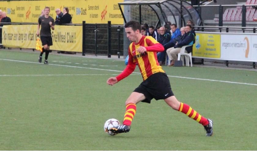 Kees van de Pavert van SDOUC. Hij scoorde zijn eerste van het seizoen;  vorig jaar eindigde hij in de top.(foto: Beeldbank SDOUC)