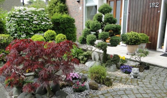 De winnende tuin aan de Minister Talmalaan.