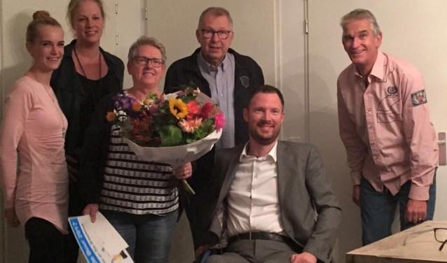 V.l.n.r.: Jamilla Wilke, Annet Heersink, Ria Braaksma, Kees Braaksma, Otwin van Dijk, Ben van de Pavert.