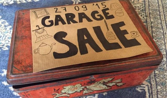 Een foto van de de Garageverkoop Borkel en Schaft van twee jaar terug. Inmiddels is het evenement al ongeveer twee keer zo groot.