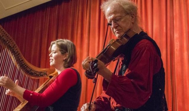 Plaisir d'amour bestaat uit Anouk Platenkamp, de gedreven spil van de Keltische harpwereld in Nederland, en Jos Koning, de nestor van de Nederlandse folk- en rockviolisten.