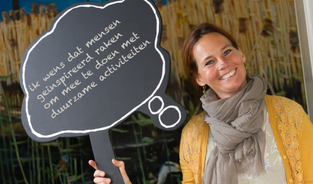 Projectleider Doepark Heleen Eshuis wenst dat mensen geïnspireerd raken om mee te doen aan duurzame activiteiten