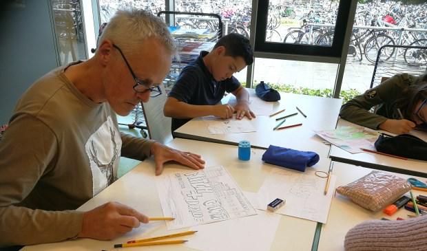 Ouders nemen plaats in de klas van hun kind op Metameer. Foto: Metameer.
