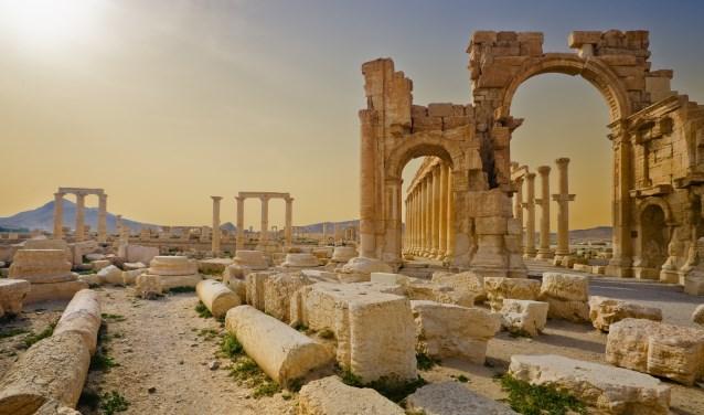 Palmyra, een van de bekendste steden van het voormalige Aram. De tentoonstelling 'De Verborgen Parel – Het Aramese erfgoed' is binnenkort te zien in de bieb.