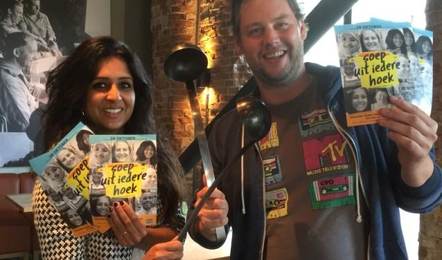 Sushma Bhatti en Robin Izelaar slaan de soeplepels ineen en zijn klaar voor een leuke stadsactiviteit in Utrecht. Foto: Roberto Cancian
