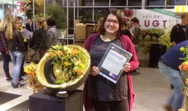 Bloemstudenten Aeres MBO Velp in de prijzen bij voorronde VBW Flowercup Ede