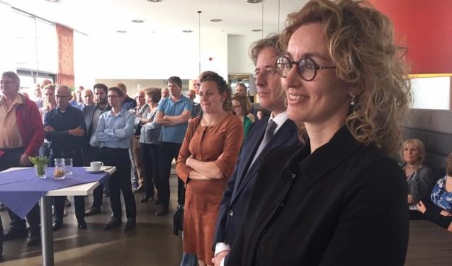 Burgemeester Judith Keijzers-Verschelling (hier bij haar afscheid als wethouder in Waalwijk) is op 12 oktober is deelneemster aan de Pecha Kucha Oirschot.