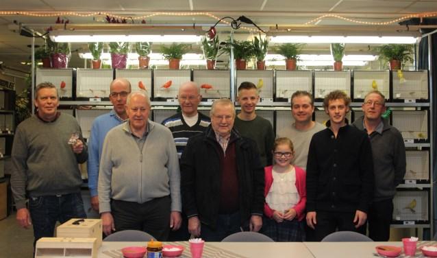 Onder de kampioenen ook jeugdlid Tamara de Groot. Jong geleerd is oud gedaan. (Foto: Ria Scholten)