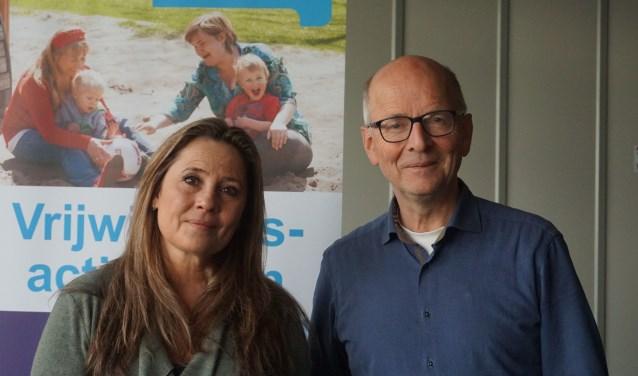 Gitte Hiemstra en Joost van der Flier begeleiden samen de lotgenotengroep rouw. FOTO: Ellis Plokker