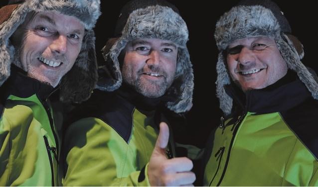 Drie Hengeloërs, Marco Willems, Gerard Wolsink en Robin Blaas, starten vrijdag 8 december met een autorally naar de Noordkaap, voor Serious Request 2017. Eigen foto