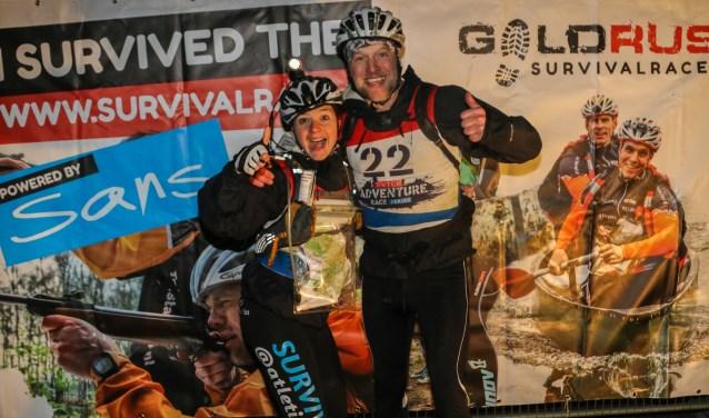 Aan de Goldrush Survival Race doen ook ook local hero´s mee, zoals Frederiek Hunneman en Edwin van de Brinks.