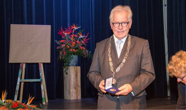 Burgemeester Alfred Veltman neemt afscheid als burgemeester van Someren maar blijft wel in de gemeente wonen. Foto: Eric Driessen.