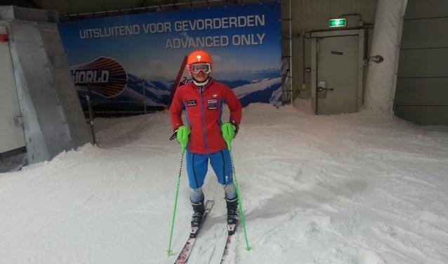 Noa tijdens een training in Snowworld