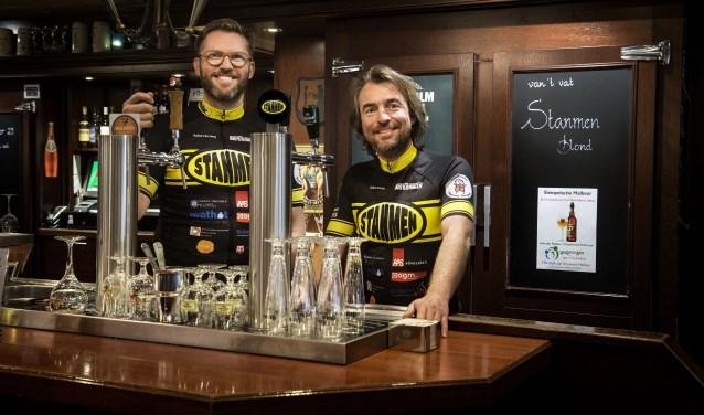 Robert de Jong en Ruben Eshuis hopen met het Stanmen bier veel geld binnen te halen voor onderzoek naar Duchenne.