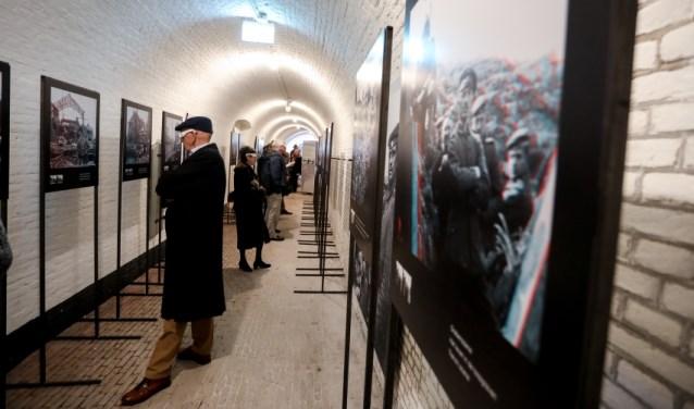 De tentoonstelling 'Front 14/18' geeft vanuit een ander perspectief een kijk op de Eerste Wereldoorlog. FOTO: Watermuseum Bunnik