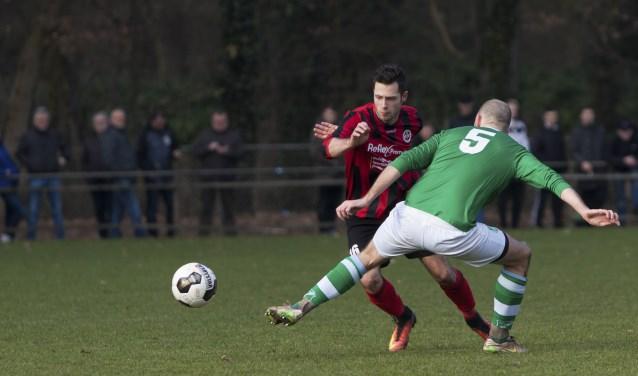 Tijdens de vorige derby was Bryan Eshuis de grote uitblinker met vier doelpunten, vanwege een blessure doet hij zaterdag niet mee. Foto: Anis Leleulija