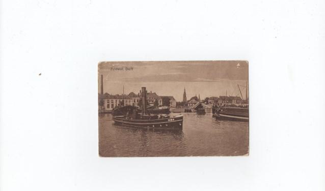 Een foto uit 1920 van het Delftse bootje.