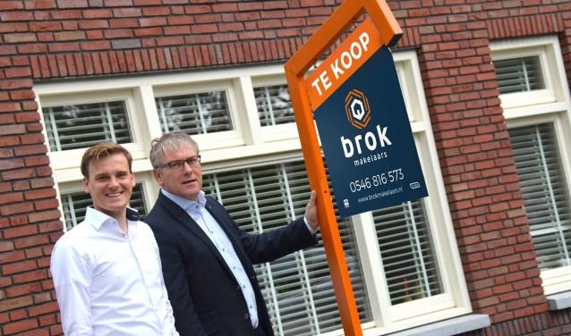 Vader en zoon Brok bundelen hun krachten om klanten snel te bedienen.