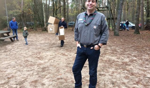Arjen Droog is voorzitter van de scouting in Lunteren. Veel kinderen uit Barneveld zijn lid van deze club.