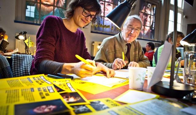 Foto gemaakt tijdens de Schrijfmarathon in Amsterdam.