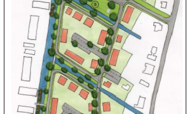 In de Hof van Harmelen komen maximaal 96 woningen van uiteenlopende typen.  FOTO: Gemeente Woerden