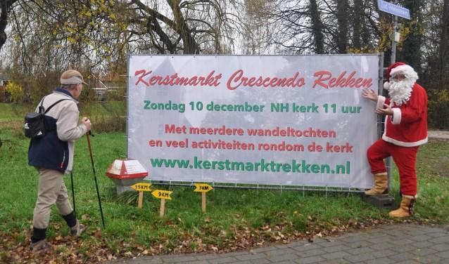 Wandelen en genieten van de kerstsfeer, dat kan zondag 10 december in Rekken.