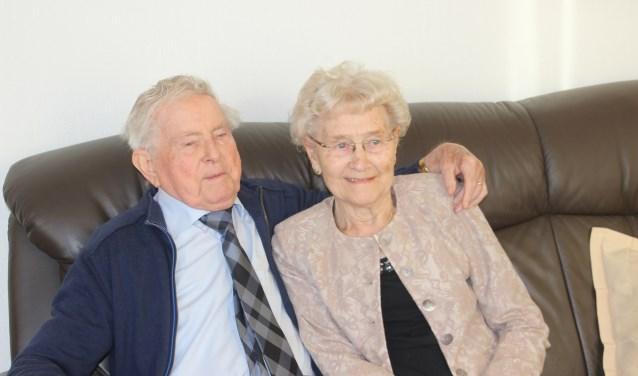 Het echtpaar Marie en Ben Löbker heeft ook na 65 jaar nooit onenigheid met elkaar