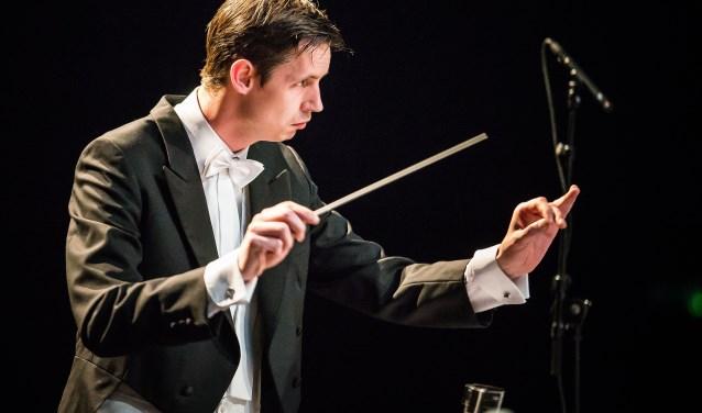 De nieuwe dirigent van Sub Umbra, Arjan Gaasbeek.