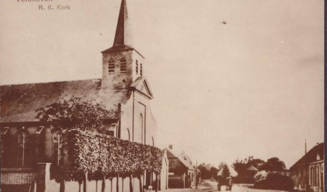 Waterstaatskerkje, gebouwd in 1834-1835 toen de katholieke eredienst weer was toegestaan in het openbaar. Afgebroken in 1914.