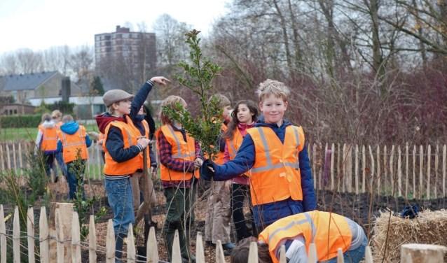 Een Tiny Forest biedt kinderen en buurtbewoners de kans om nauw betrokken te zijn bij de groei van het bos. Ze mogen de bomen zelf planten en helpen bij het onderhoud.