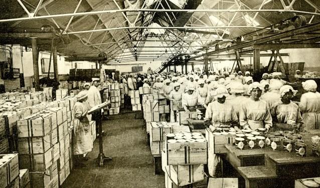 Bedrijvigheid in de margarinefabrieken van Jurgens, 1918.