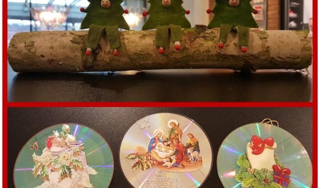 Deelnemers kunnen een stammetje met kerstmannetjes maken of een cd versieren met kersttaferelen.