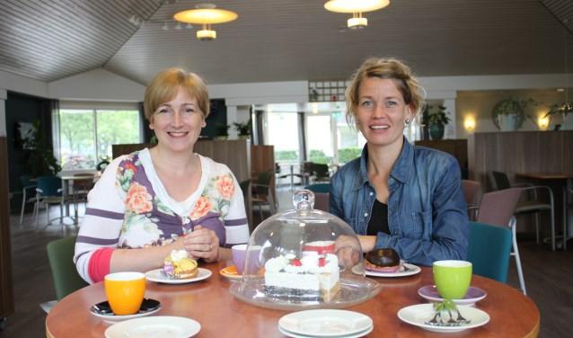 Marie José Antonissen en Kim Bombeeck staan volop achter het idee  van Leut met Taart.
