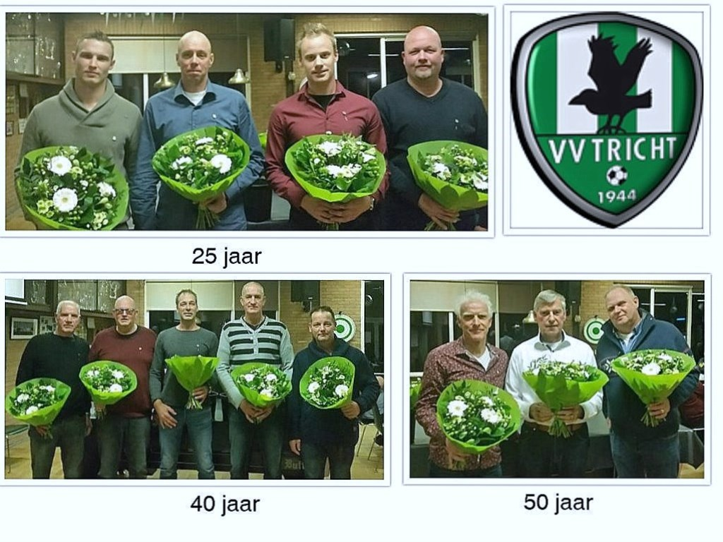 VV Tricht huldigt maar liefst 16 jubilarissen.