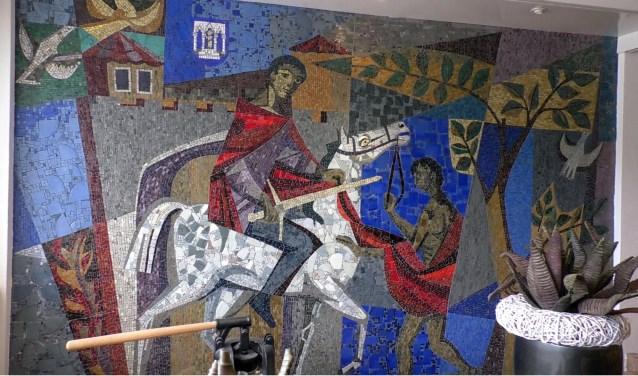 Het mozaïekwerk van Jan Schoenaker, dat nu zeker behouden blijft voor Almelo