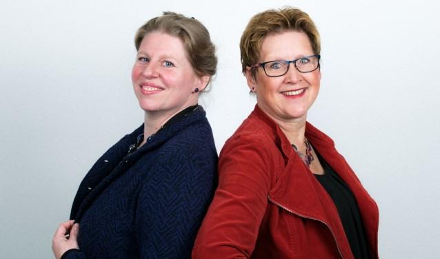 Links dr. Fabiënne Naber, rechts autismedeskundige Colette de Bruin