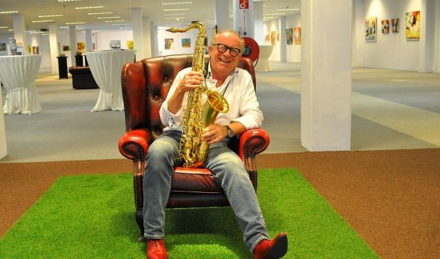 Saxofonist Peter van Ineveld zal de muziek verzorgen tijdens de opening van Eye-Candy 17. Foto: Patrick Roelofs.