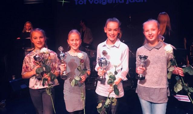 Vlnr: Julia Beverdam, Julia van Otten, Anna Heijenk, Laura Geertsma. Foto: De Reggehof