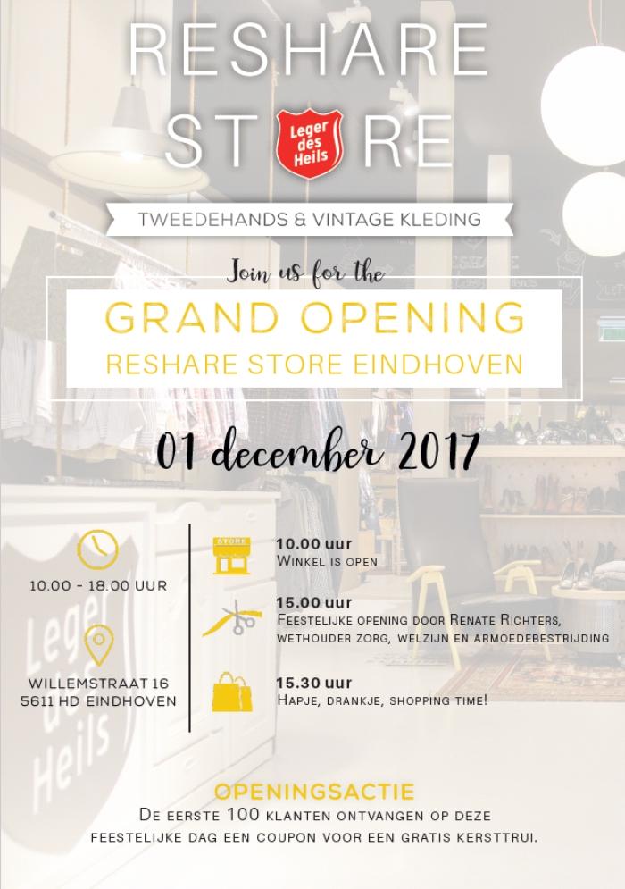Gratis Kersttrui.Activiteit Feestelijke Opening Reshare Store Groot Eindhoven