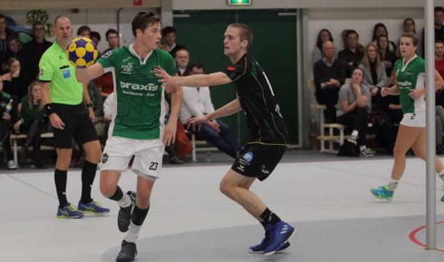 DVO/Accountor heeft zaterdag de eerste thuiswedstrijd van het seizoen met 25-31 verloren van LDODK. (foto: Erik Mulder)
