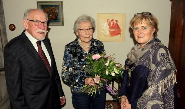 Burgemeester Sijbers bezocht het diamanten bruidspaar Hamelijnck - Colen.