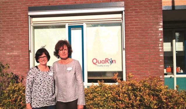 Gea van der Molen (links) en Bernadet Visser (rechts). FOTO: QuaRijn