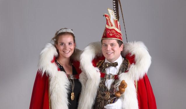 Prins John Heijsterman met zijn prinses Leonie Goossens.