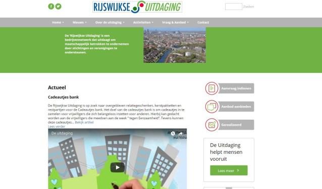 Via de website www.rijswijkseuitdaging.nl komen vraag en aanbod bij elkaar.