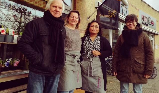 vlnr: Freek Krouwel, Angela, Patty en Angeline van Hoef.