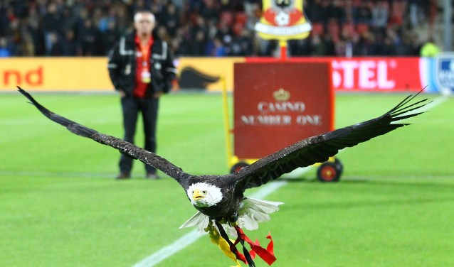 Clubmascotte Harly. May your heart soar like an Eagle. (Foto: Erik Pasman)
