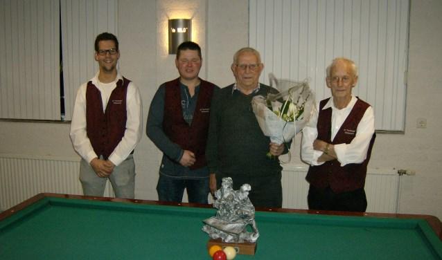 V.l.n.r. Johnny Selten, Ronnie Kerstens, Martien v/d Linden en Huub van Lieshout.