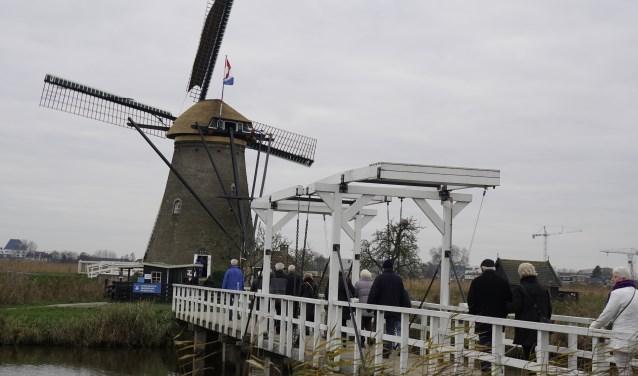Veel bezoekers vierden het 20-jarig jubileum mee. Werelderfgoed Kinderdijk staat nu 20 jaar op de UNESCO-lijst.