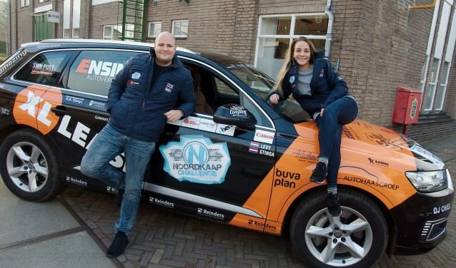 Pauline Stinga en Dani Levy uit Apeldoorn vertrekken vrijdag naar de Noordkaap